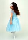 """Нарядное платье """"Лина"""" цвет светло-голубой."""