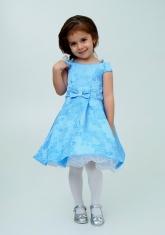 """Нарядное платье """"Ия"""" цвет голубой."""