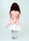 """Нарядное платье """"Ия"""" цвет персиковый."""