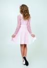 """Нарядное платье с кружевом """"Северина"""" цвет розовый."""