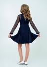"""Нарядное платье с кружевом """"Северина"""" цвет темно-синий."""