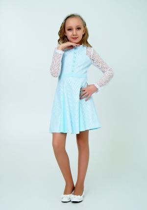 """Нарядное платье с кружевом """"Северина"""" цвет тиффани. Нежное и красивое платье для настоящих модниц."""