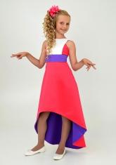 """Элегантное платье """"Симона"""" малиновый цвета."""