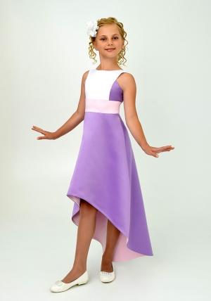 """Элегантное платье """"Симона"""" сиреневый цвета.Красивоеплатье для настоящих модниц. Данное платье застегивается на молнию."""