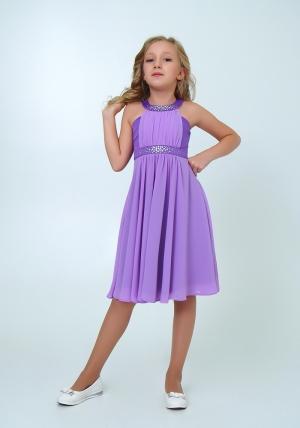 """Нарядное платье с болеро """"Екатерина"""" цвет сиреневый. Оригинальное и очень красивое платье со стразами. Платье на молнии и шнуровке."""