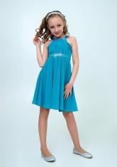 """Нарядное платье с болеро """"Екатерина"""" цвет бирюзовый."""