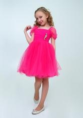 """Нарядное платье """"Августина"""" цвет малиновый."""