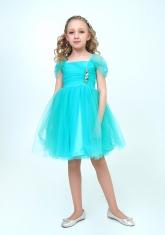 """Нарядное платье """"Августина"""" цвет ментоловый."""