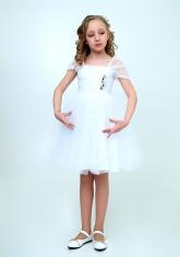 """Нарядное платье """"Августина"""" цвет белый."""