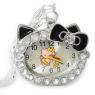 Детские Часы Hello Kitty с бантиком на цепочке.
