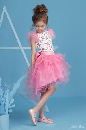 """Скоро весна, мы рады предложить вам новинки!Нарядный комплект """"Даниэла"""" с пышной юбкой розового цвета. Комплект состоит из блузки с принтом """"цветы"""" и пышной юбки розового цвета. Красивый наряд на весенний праздник, а также любое торжество! Ваша девочка будет самой яркой и красивой на празднике!"""