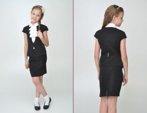 Школьная распродажа! Успейте купить жилетку для девочки черного цвета, остался один размер на рост 140 размер 34. Необходимая вещь для школьной формы.