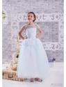 """Нарядное платье """"Акулина"""" с кружевом и пышной юбкой."""