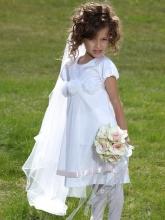 """Нарядное платье """"Ангел"""" белого цвета."""
