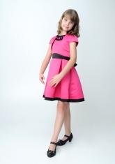 """Нарядное платье """"Кассандра"""" малинового цвета с болеро."""