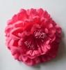 Повязка на голову с цветком пионом.