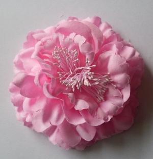 """Цветок на голову """"Пион"""" на заколке.Очень красивый и пышный цветок/ Сам цветок на заколке, что очень удобно, можно носить на голове, а можно и на шапочке и повязке."""