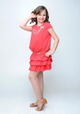 """Нарядное платье """"Капитолина"""" кораллового цвета."""
