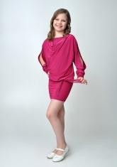 """Элегантное платье """"Анастасия"""" цвета фуксии."""