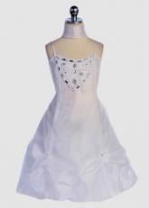 """Нарядное платье """"Габриэла"""" белого цвета с шарфиком."""