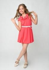 """Трикотажное платье """"Жанин"""" кораллового цвета."""