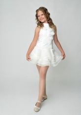 """Элегантное платье """"Лиззи"""" цвета айвори с болеро."""