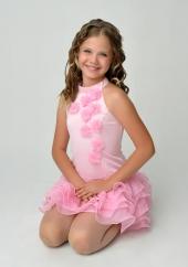 """Элегантное платье """"Лиззи"""" розового цвета с болеро."""