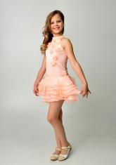 """Элегантное платье """"Лиззи"""" персикового цвета с болеро."""