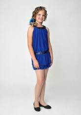 """Нарядное платье """"Дарья"""" цвета электрик."""