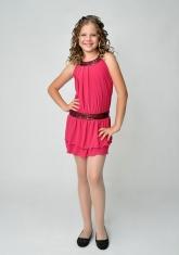 """Нарядное платье """"Дарья"""" малинового цвета."""