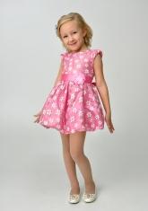 """Нарядное платье для малышек """"Цветочек"""" розового цвета."""