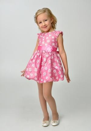 """Нарядное платье для малышек """"Цветочек"""" розового цвета.Детское ясельное платье. Нарядное платье украшают цветочки на платье. Прекрасный наряд для любых торжеств и праздников."""