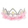 """Детская корона """"Принцесса"""" с кружевом и цветочками."""