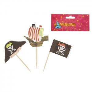 """Пика для канапэ """"Пират"""". Если ваш праздник в пиратском стиле, то вам понадобятся пики для канапэ. Набор включает в себя: 12 шт."""