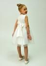 """Нарядное платье для малышек """"Розочки"""" цвета айвори."""