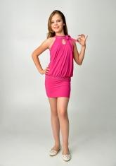 """Элегантное платье """"Инна"""" темно-розового цвета."""