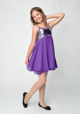 """Нарядное платье """"Эстель"""" фиолетового цвета с болеро."""