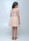 """Нарядное платье с болеро """"Юлия"""" цвета капучино."""