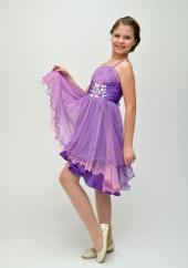 """Нарядное платье """"Анна"""" фиолетового цвета с болеро."""