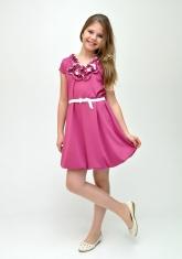 """Трикотажное платье """"Жанин"""" темно-розового цвета."""