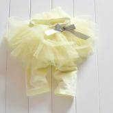 """Детские леггинсы с юбочкой """"Малышка"""" желтого цвета."""