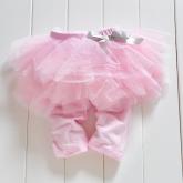 """Детские леггинсы с юбочкой """"Малышка"""" розового цвета."""
