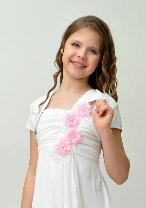 """Нарядное платье """"Алиса"""" с цветочками и болеро.Красивое платье для настоящих модниц. Платье на молнии и шнуровкой, что хорошо для регулировки объема. Длина платья до колена. Данный наряд идеален для любых торжеств и праздников."""