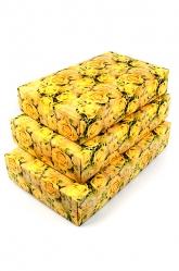 """Подарочная коробка прямоугольная """"Цветочное сияние""""."""