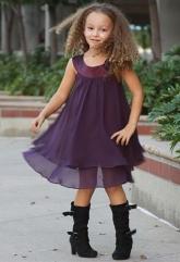 """Нарядное шифоновое платье """"Лаура"""" фиолетового цвета."""