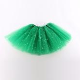 Юбка Туту зеленого цвета с блестками.