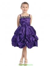 """Нарядное платье """"Гретта"""" фиолетового цвета с шарфиком."""