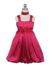 """Нарядное платье """"Эдит"""" цвета фуксии с шарфиком."""