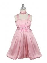 """Нарядное платье """"Эдит"""" цвета чайной розы с шарфиком."""