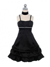 """Нарядное платье """"Суссана"""" черного цвета."""